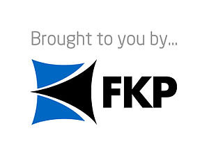 English: This is a logo for FKP.