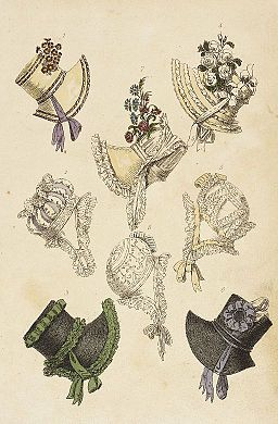 Fashion Plate (Parisian Head Dresses) LACMA M.86.266.248