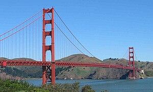 The Golden Gate Bridge in San Francisco, one o...