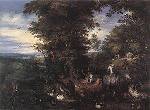 Jan Brueghel (I) - Adam and Eve in the Garden ...