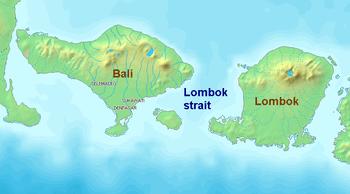 English: Lombok Strait Bahasa Indonesia: Selat...