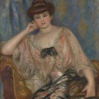"""""""Portrait of Misia Godebska-Sert"""" by Pierre-Auguste Renoir"""