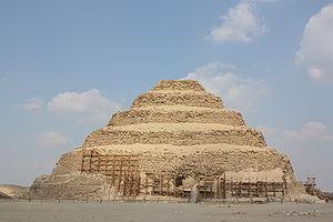 The Pyramid of Djoser in Saqqara, Egypt.
