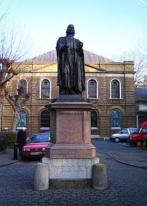 Statue of John Wesley at Wesley's Chapel City ...