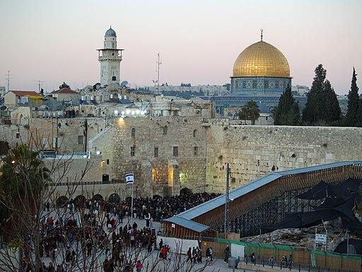 Temple Mount Western Wall on Shabbat by David Shankbone
