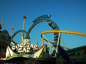 """English: Looping roller coaster """"Teststre..."""