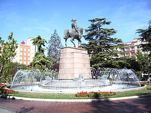View of Square of Paseo del Príncipe de Vergar...