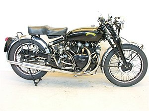 English: 1950 Vincent Black Shadow. Italiano: ...
