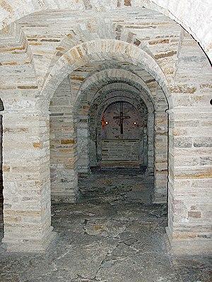 da: Kryptkirken under Vor Frue Kirke er den æl...