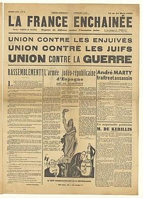 1939 La France Entre En Guerre : france, entre, guerre, France, Enchaînée, Wikipédia