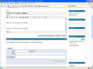Screenshot of WordPress interface (wordpress i...