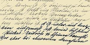 Manuscrito original de la carta de Freud a Jung (1913)