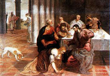 Deutsch: Christus im Hause des Pharisäers, Jac...