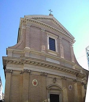 Facade of Sant'Andrea delle Fratte.