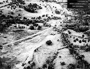 Local de lançamento de m�sseis em Cuba, dia 1 de Novembro de 1962.