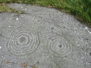 English: Cup and Ring Markings Believed to hav...