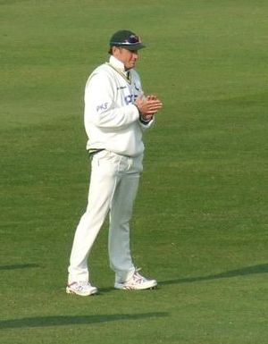 David Hussey in the slips, Nottinghamshire v L...