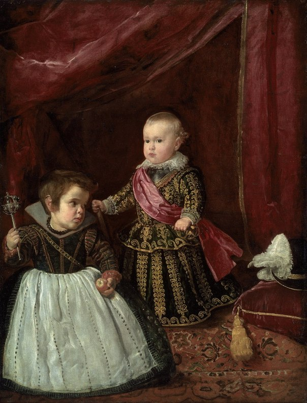 Diego Rodríguez de Silva y Velázquez - Don Baltasar Carlos with a Dwarf - Google Art Project