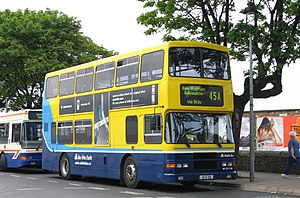 Dublin Bus No 45A outside Dun Laoghaire DART s...