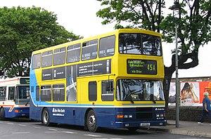 Dublin Bus No 45A outside Dun Laoghaire DART s...