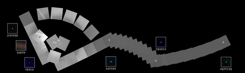 Foto del Voyager 1 del sistema solar
