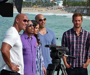 English: Fast Five cast (Paul Walker, Vin Dies...