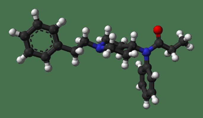 Fentanyl-xtal-3D-balls