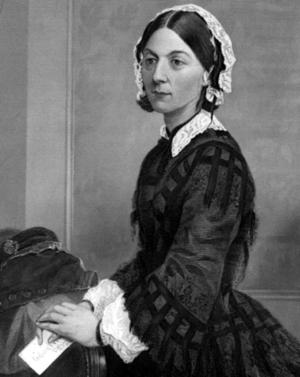Portrait of Florence Nightingale.