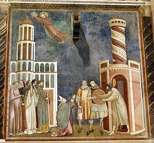 Dansk: Giotto: Udfrielsen af hæretikeren Pietr...