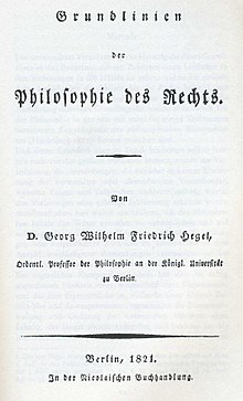 Elements of the Philosophy of Right  Wikipedia