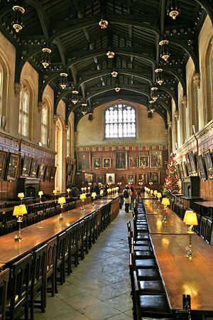 The Hall at Christ Church in Oxford, England.