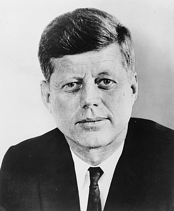 English: John F. Kennedy, former President of ...