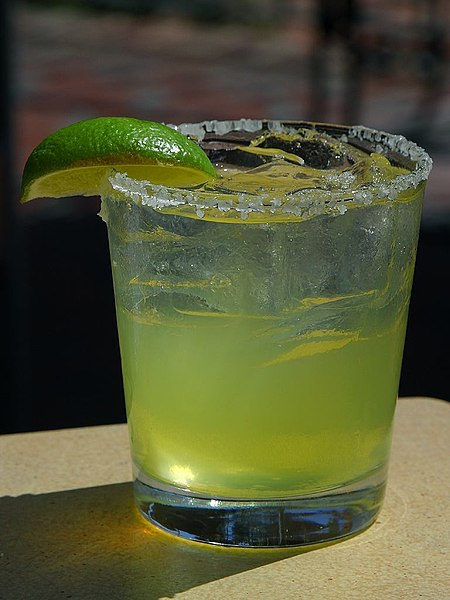This may look like a glass of lime juice, but this is margarita!
