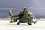 Executive Outcomes kämpfte in den afrikanischen Bürgerkriegen mit ehemaligen südafrikanischen Spezialkräften, die ehemals sowjetische Waffensysteme benutzten (hier ein Mil Mi-24-Kampfhubschrauber (Hind)).