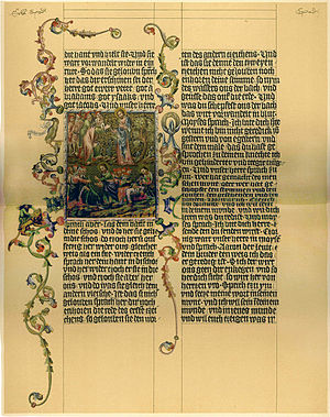 A page from the Wenzel Bible From the caption:...