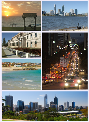 A montage of images of Perth, Western Australi...