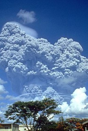 Ash plume of Mount Pinatubo during 1991 eruption.