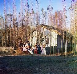 Russian settlers in Kazakhstan, 1911.