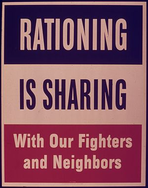 RATIONING IS SHARING WITH OUR FIGHTERS AND NEI...