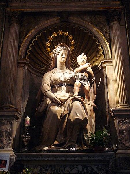 File:S Agostino - Sansovino Madonna del parto 002.jpg