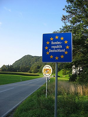 "A typical ""Schengen-border"" (here ne..."
