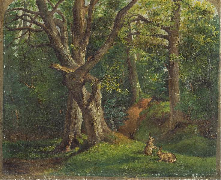 File:Sir Hubert von Herkomer - Woodland scene with rabbits - Google Art Project.jpg