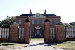 restored Tryon Palace, New Bern, NC