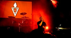 English: Ronan Harris of VNV Nation at the Hi-...