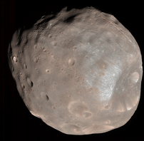 Colour image of Phobos, imaged by the Mars Rec...