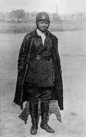 Bessie Coleman, the first licensed black pilot...