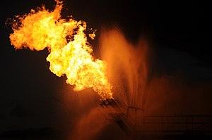 Gas from the damaged Deepwater Horizon wellhea...