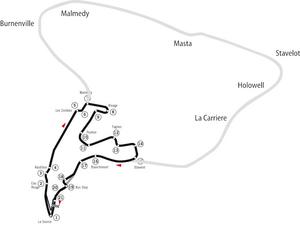The old configuration Circuit de Spa-Francorch...