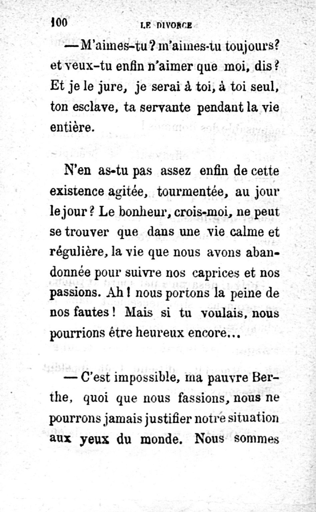 Si Tu Crois Un Jour Que Tu M'aimes : crois, m'aimes, Page:Gagneur, Divorce.pdf/104, Wikisource