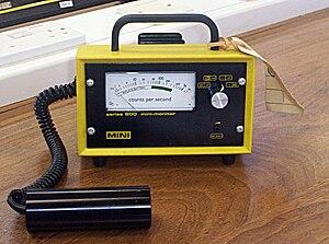 Geiger-Müller radiation detector.